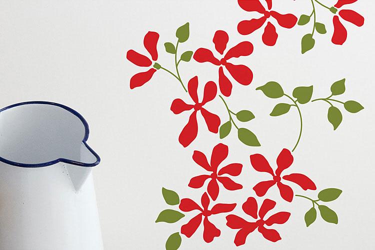 꽃과잎 그래픽스티커 포인트 시트지