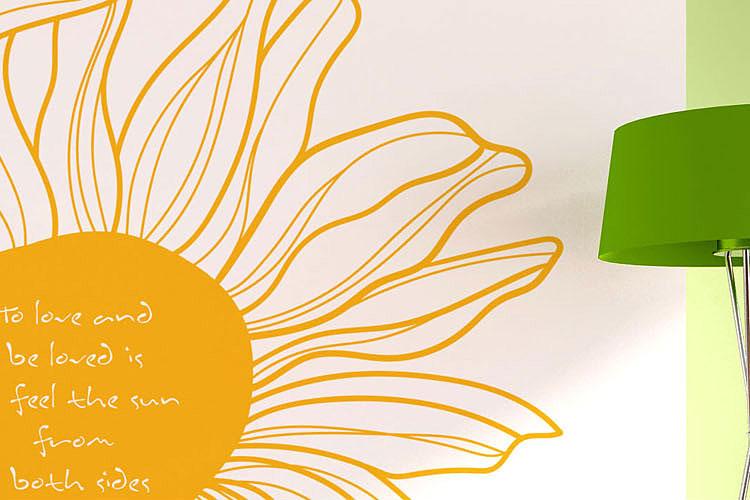 꽃한송이 그래픽스티커 포인트 시트지
