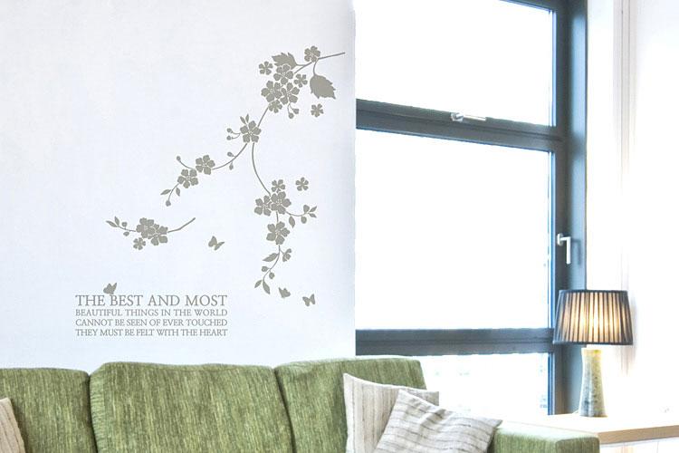 꽃줄기 그래픽스티커 포인트 시트지