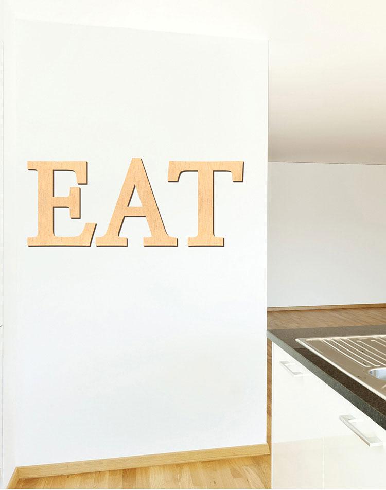 EAT 우드스티커 월데코