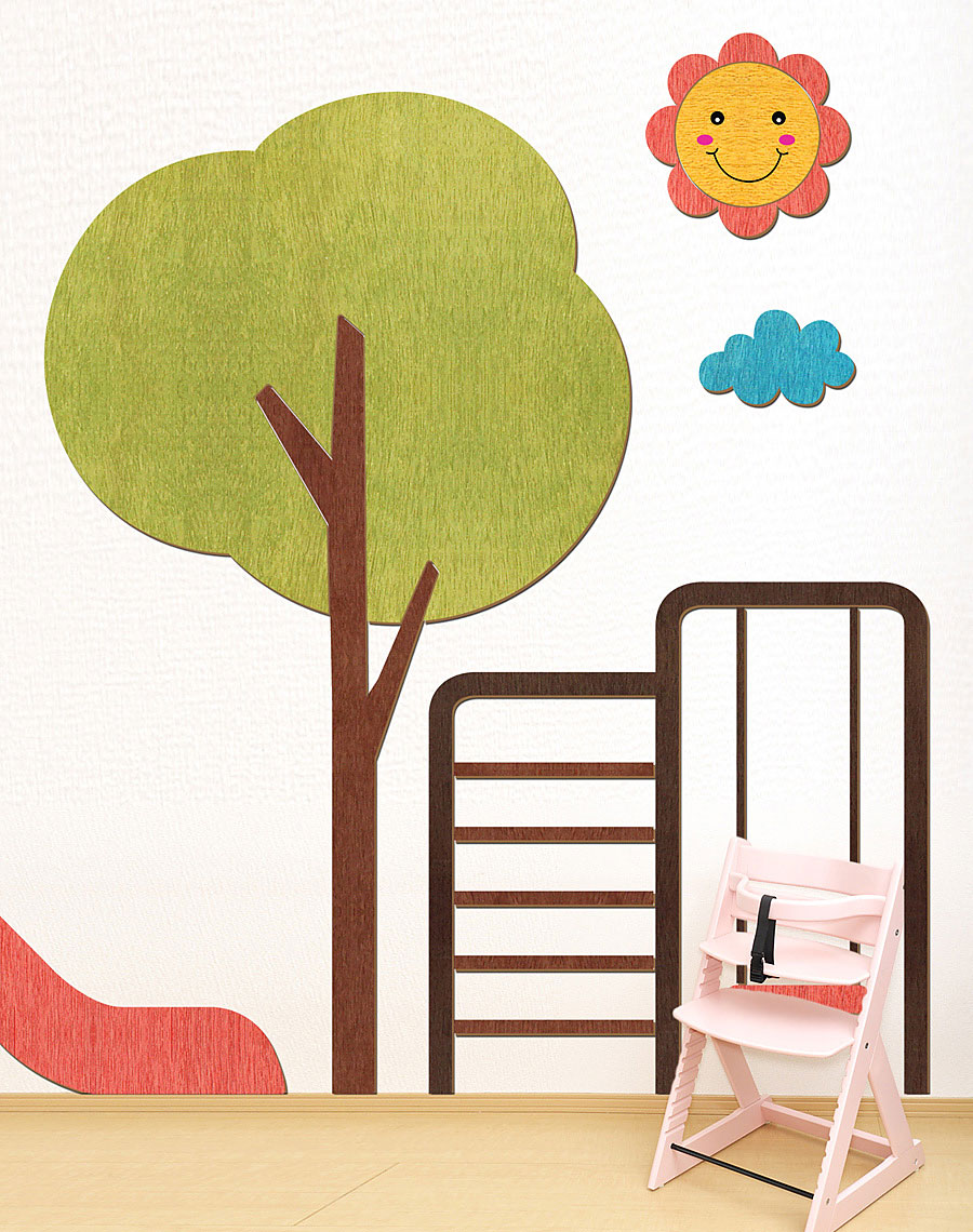 우드스티커- 놀이터 W537 아이방 어린이집-바보사랑