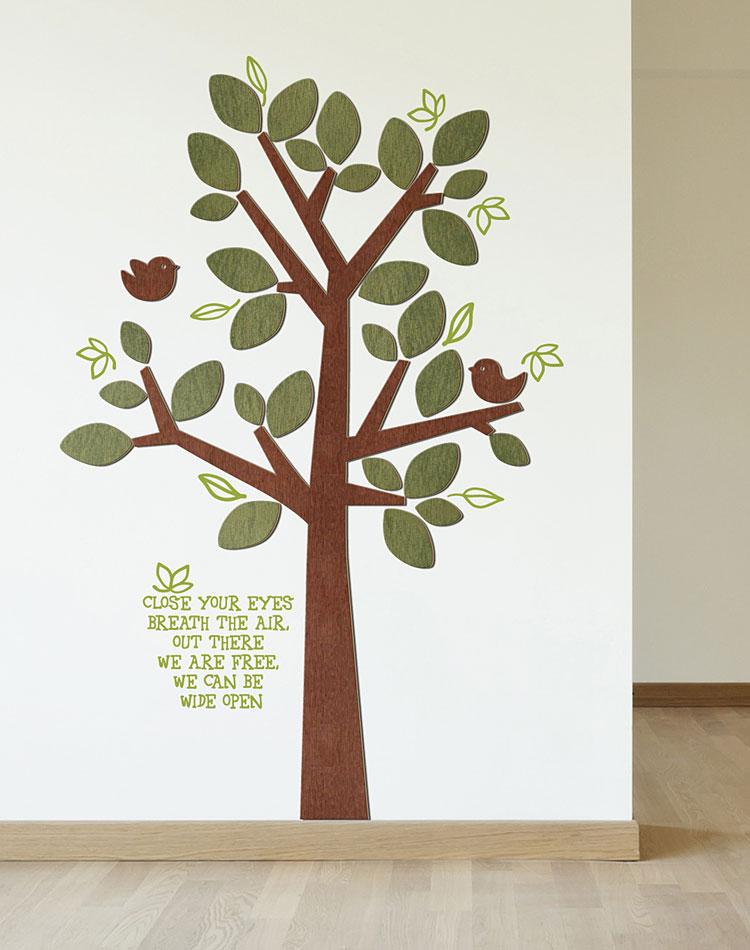 동화같은나무 우드스티커 월데코