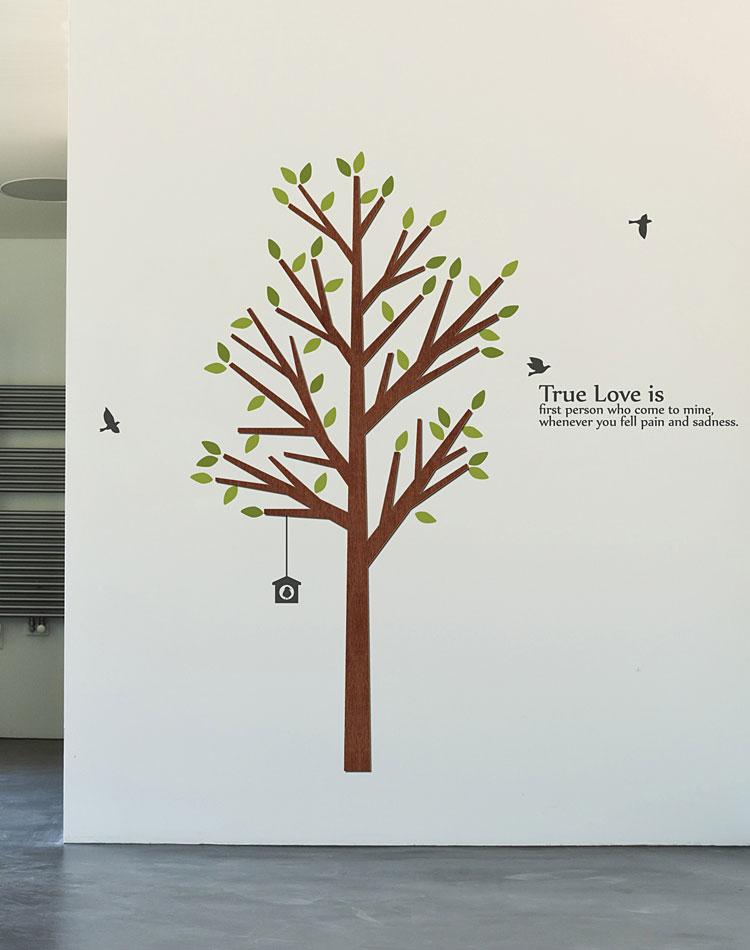 심플한가지나무 우드스티커 월데코