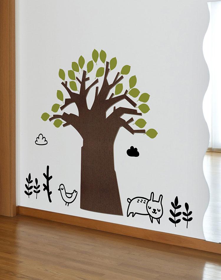 고목나무 우드스티커 월데코